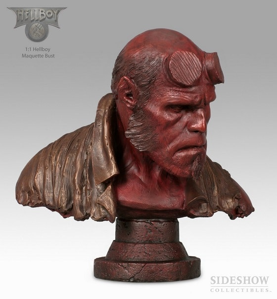 HELLBOY FAUX BRONZE LIFE SIZE BUST 1/1 – Sideshow Collectibles
