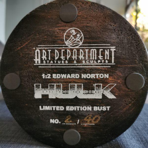 HULK EDWARD NORTON BUST 1/2 SCALE - THE INCREDIBLE HULK - ART DEPARTMENT