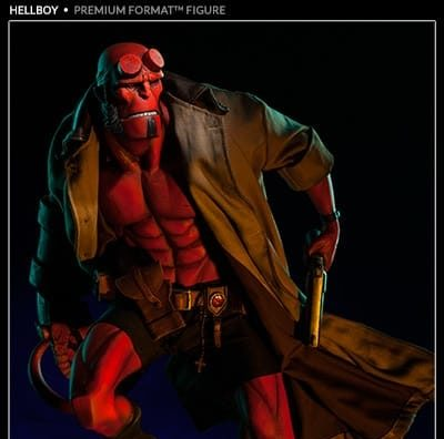 HELLBOY MIGNOLA Premium Format PF Regular Version - SIDESHOW COLLECTIBLES