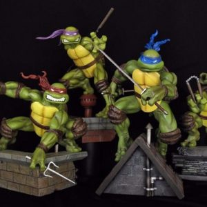 COMIQUETTE TEENAGE MUTANT NINJA TURTLES TMNT Version EXCLUSIVE - Lot de 4 - SIDESHOW Collectibles