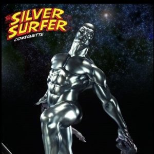 SILVER SURFER COMIQUETTE Statue Regular Version - SIDESHOW COLLECTIBLES