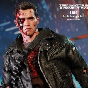 TERMINATOR 2: JUDGMENT DAY T-800 (BATTLE DAMAGED VERSION) DX13 1/6 Scale figure - HOT TOYS