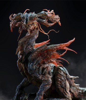 Chi Dragon statue Artist Series - Infinity Studio