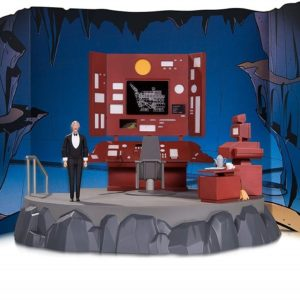 Batman The Animated Series - Batcave diorama with Alfred figure - DC COLLECTIBLES