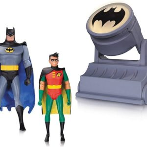 Batman The Animated Series - Batman & Robin with Bat-Signal Action Figures - DC COLLECTIBLES