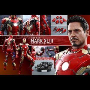 IRON MAN MARK XLIII (43) 1/4TH SCALE FIGURE QS005 - AVENGERS: AGE OF ULTRON - HOT TOYS