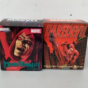 Lot Daredevil 1/10 Mini Statue European Exclusive By HARD HERO et Hobgoblin Bust By DIAMOND SELECT