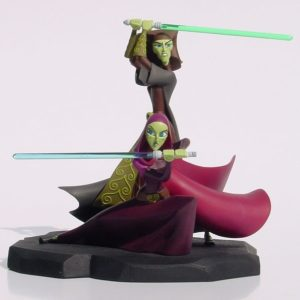 BARRISS OFFEE AND LUMINARA UNDULI ANIMATED STATUE - STAR WARS CLONE WARS - GENTLE GIANT