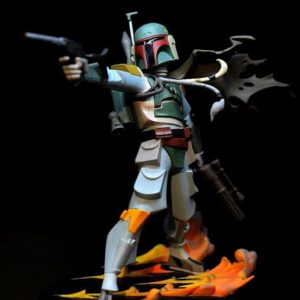 BOBA FETT ANIMATED Statue - STAR WARS - GENTLE GIANT