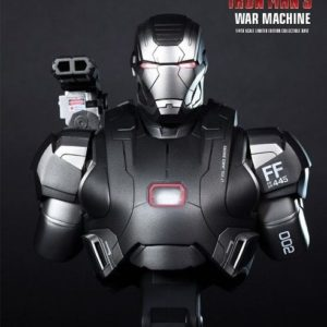 IRON MAN 3 WAR MACHINE 1/4TH SCALE BUST - HOT TOYS