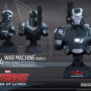 AVENGERS AGE OF ULTRON WAR MACHINE MARK 2 BUST 1/4 - HOT TOYS