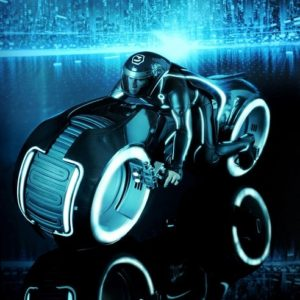 TRON: LEGACY SAM FLYNN WITH LIGHT CYCLE 1/6TH MMS142 - HOT TOYS