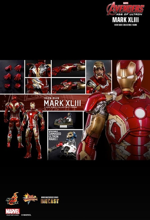IRON MAN MARK XLIII 1/6TH SCALE FIGURE MMS278D09 - AVENGERS: AGE OF ULTRON - HOT TOYS