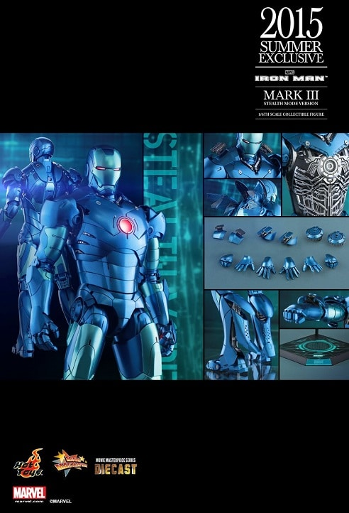 IRON MAN MARK III (STEALTH MODE VERSION) 1/6TH SCALE FIGURE MMS314D12 - HOT TOYS