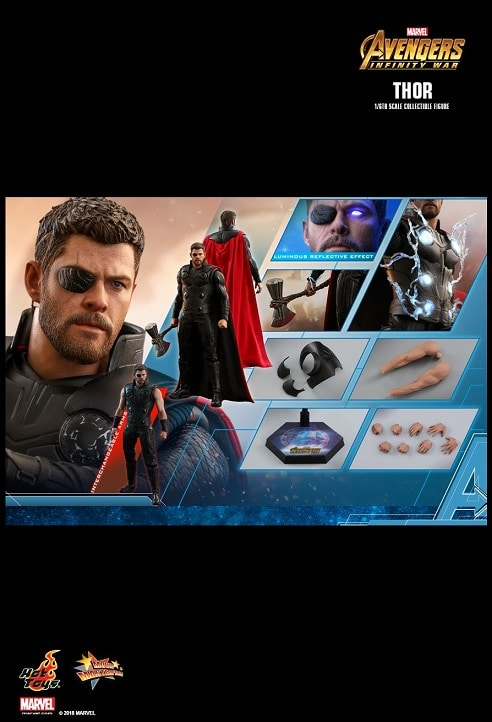 THOR 1/6TH SCALE FIGURE MMS474 - AVENGERS: INFINITY WAR - HOT TOYS