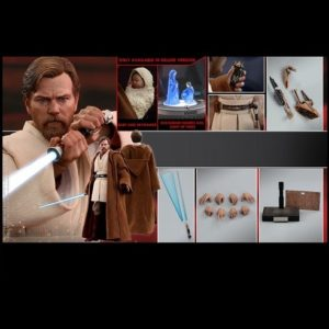 OBI-WAN KENOBI (DELUXE VERSION) 1/6TH MMS478 - STAR WARS: EPISODE III REVENGE OF THE SITH - HOT TOYS