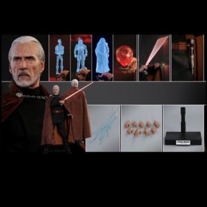 COUNT DOOKU 1/6TH SCALE FIGURE MMS496 - STAR WARS EPISODE II: ATTACK OF THE CLONES - HOT TOYS