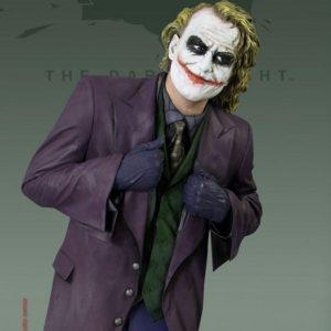 THE JOKER Heath Ledger Life Size Statue - BATMAN THE DARK KNIGHT - OXMOX MUCKLE