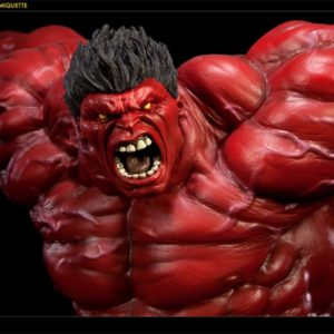 Red Hulk Polystone Statue Comiquette - SIDESHOW COLLECTIBLES
