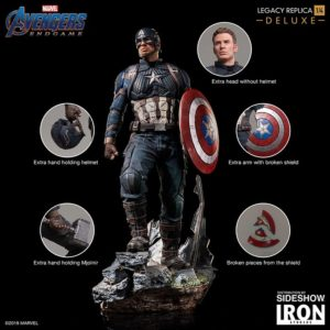 Captain America Deluxe Version 1:4 Legacy Replica - Avengers: Endgame - Iron Studios