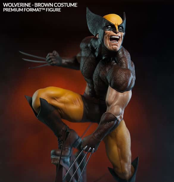 Wolverine Brown Costume Premium Format Collector Edition - SIDESHOW COLLECTIBLES