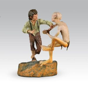 FRODO AND GOLLUM 'The Crack of Doom' Diorama - Le Seigneur des Anneaux LOTR - Sideshow Collectibles