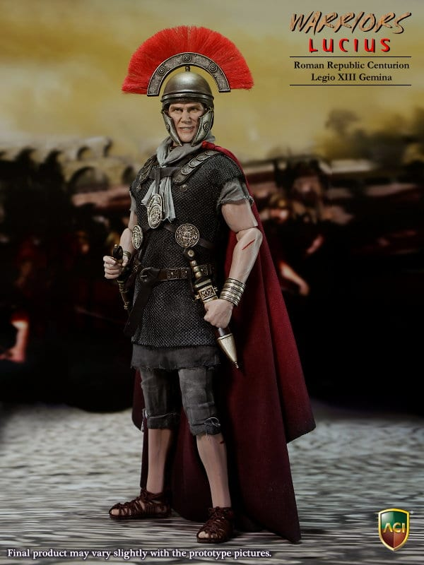 LEGIONARY LUCIUS ROMAN REPUBLIC LEGIO XIII GEMINA 1/6th Scale Figure - ACI Toys