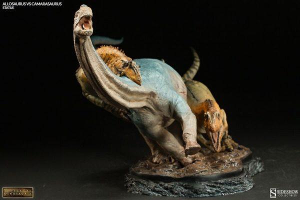 Allosaurus vs Camarasaurus Statue - Dinosauria collection - Sideshow Collectibles