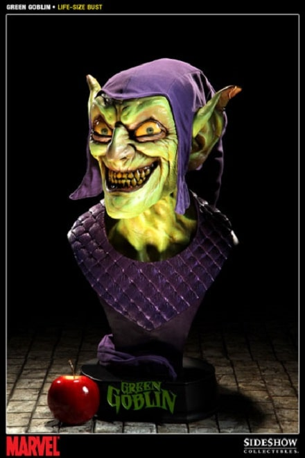 Green Goblin Life-Size Bust 1:1 MARVEL - Spider-Man - Sideshow Collectibles