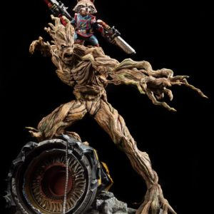 Groot and Rocket Raccoon Premium Collectibles series statue - Les Gardiens de la Galaxie - XM STUDIOS