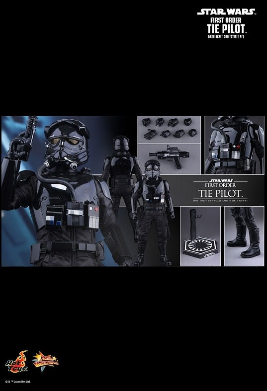 FIRST ORDER TIE PILOT 1/6TH SCALE FIGURE MMS324 - STAR WARS: THE FORCE AWAKENS - HOT TOYS