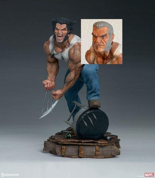 Logan Wolverine Premium Format Collector Edition + Tête custom - X-Men - SIDESHOW COLLECTIBLES