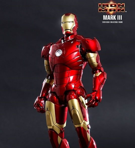 IRON MAN MARK 3 III 1/6TH SCALE FIGURE Diecast MMS256D07 - HOT TOYS