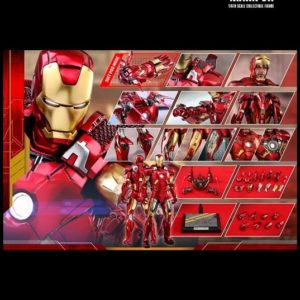 IRON MAN MARK 7 VII 1/6TH SCALE FIGURE Diecast MMS500D27 - HOT TOYS