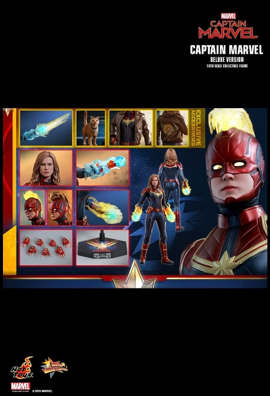 CAPTAIN MARVEL (DELUXE VERSION) 1/6TH SCALE FIGURE MMS522 - HOT TOYS
