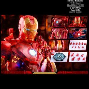 IRON MAN MARK IV (HOLOGRAPHIC VERSION) MMS568 - IRON MAN 2 - HOT TOYS