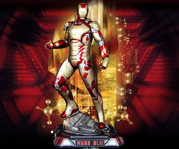IRON MAN MARK 42 XLII 1:2 SCALE STATUE - IRON MAN 3 - Imaginarium Art